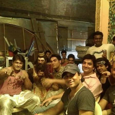 During the break time on the sets of 'Shani'