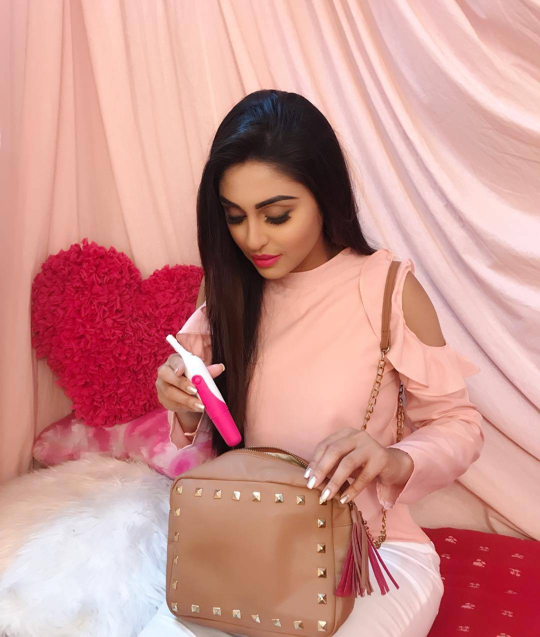 These pictures clearly prove Krystle D'Souza's love for Colors!