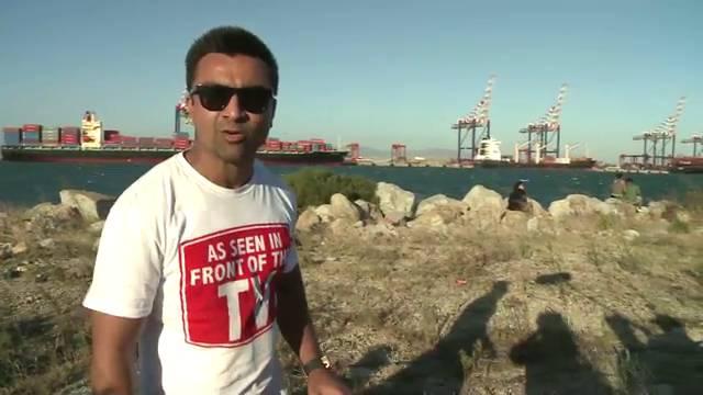 Ajaz takes a tour with the team mates #KKK