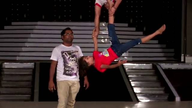 Behind the scene of Sonali and Sumanth's aerial act