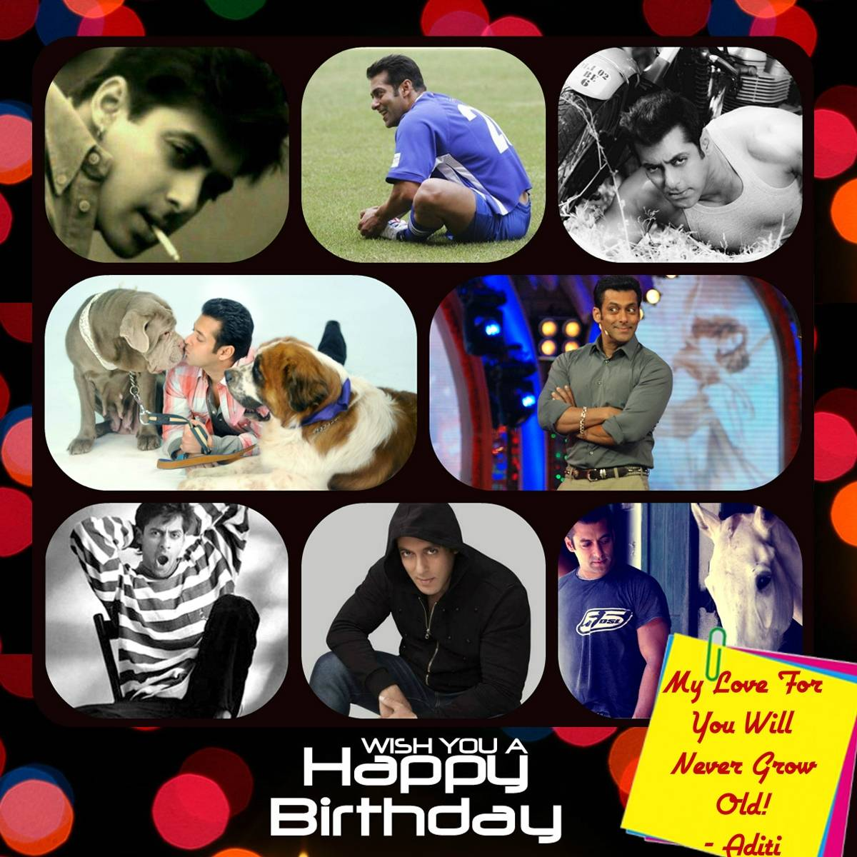 Birthday wishes for Salman Khan