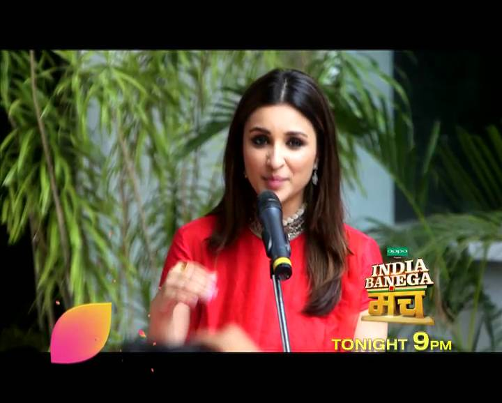 Catch Ayushmann and Parineeti on 'India Banega Manch' tonight at 9 PM!