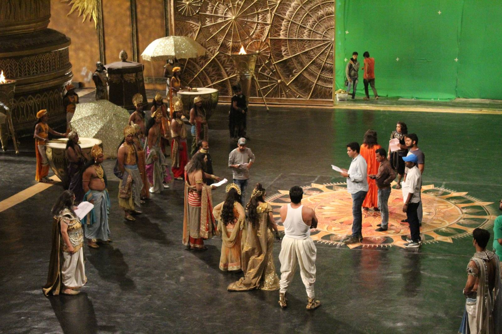 Artistes on 'Shani' clicked during their shoot