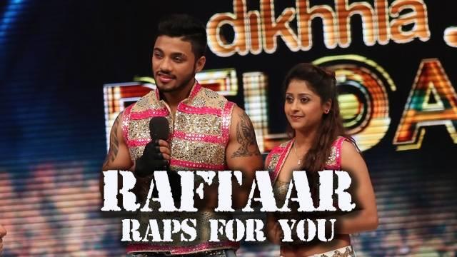 Raftaar raps to the title track of Jhalak!