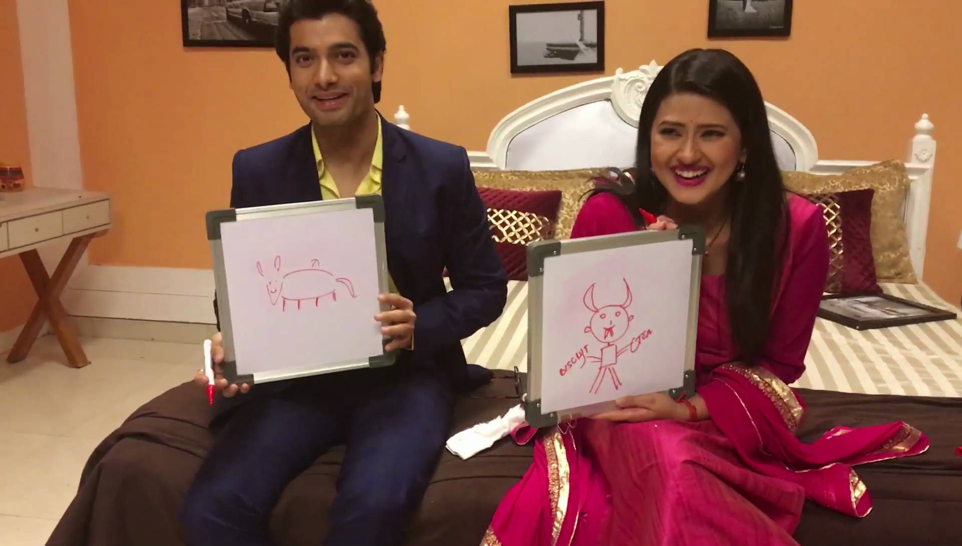 Sharad and Kratika from 'Kasam' indulge in a fun activity
