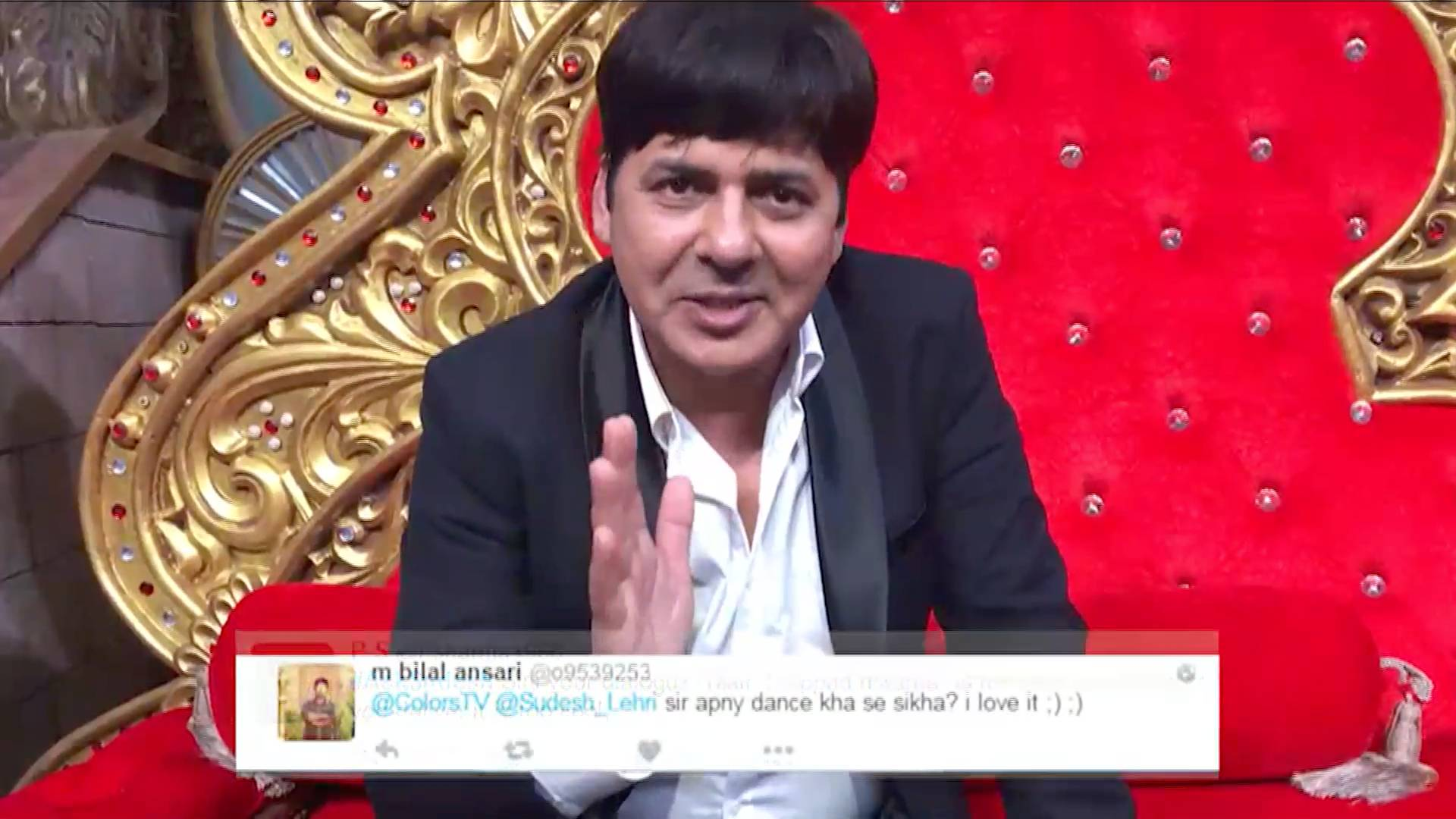 Sudesh answers fan questions in his funny andaaz