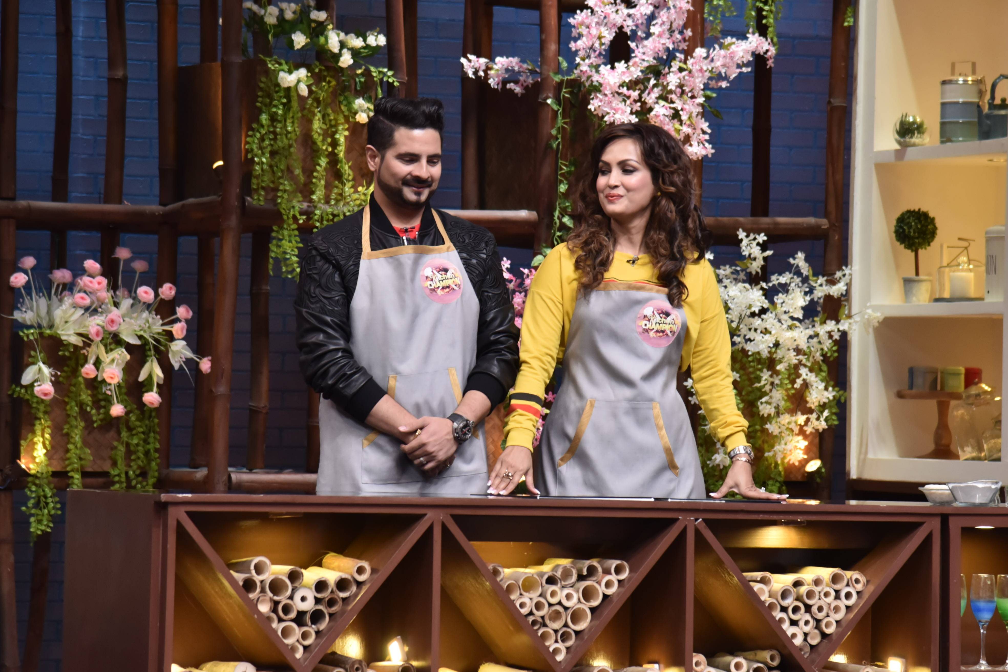 Glimpses from today's episode of Kitchen Champion!