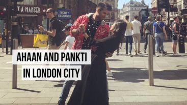 Pankti and Ahaan in London