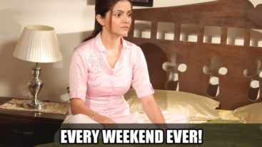 Rubina a.k.a Saumya spells weekend out for us perfectly!