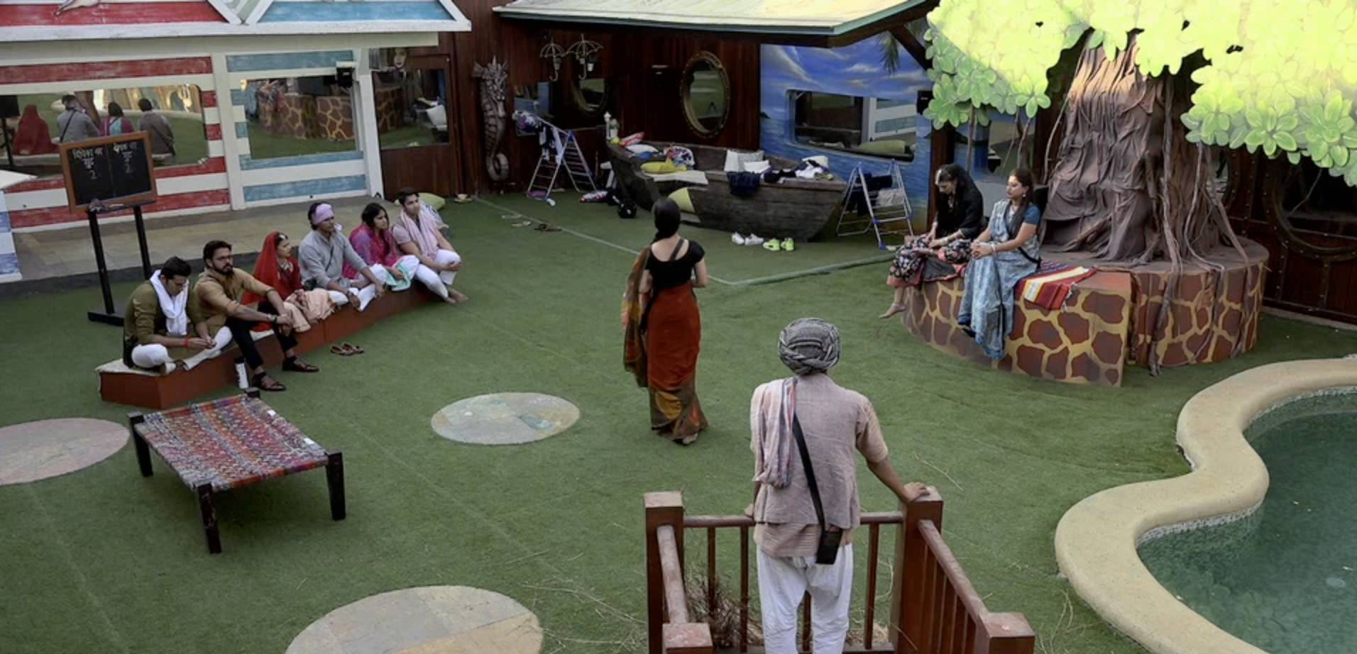 Exclusive pictures from the BB Panchayat tonight?