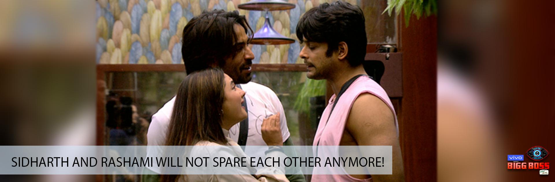 Rashami Desai and Sidharth Shukla don't spare each other!