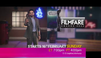 Filmfare Award 16th Feb Sunday at 7pm ET & 4pm PT