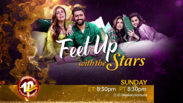 Watch Feet Up with Stars on Every Sunday at 8:30pm ET/PT