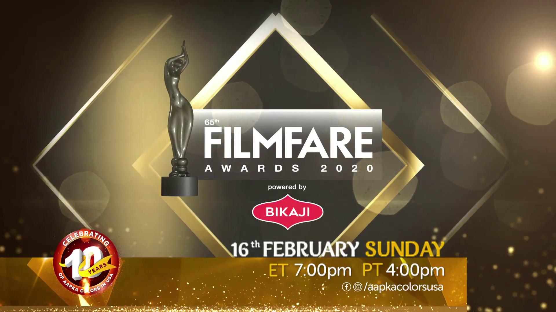 Film Fare Awards 16th Feb Sun 7pm ET/4pm PT