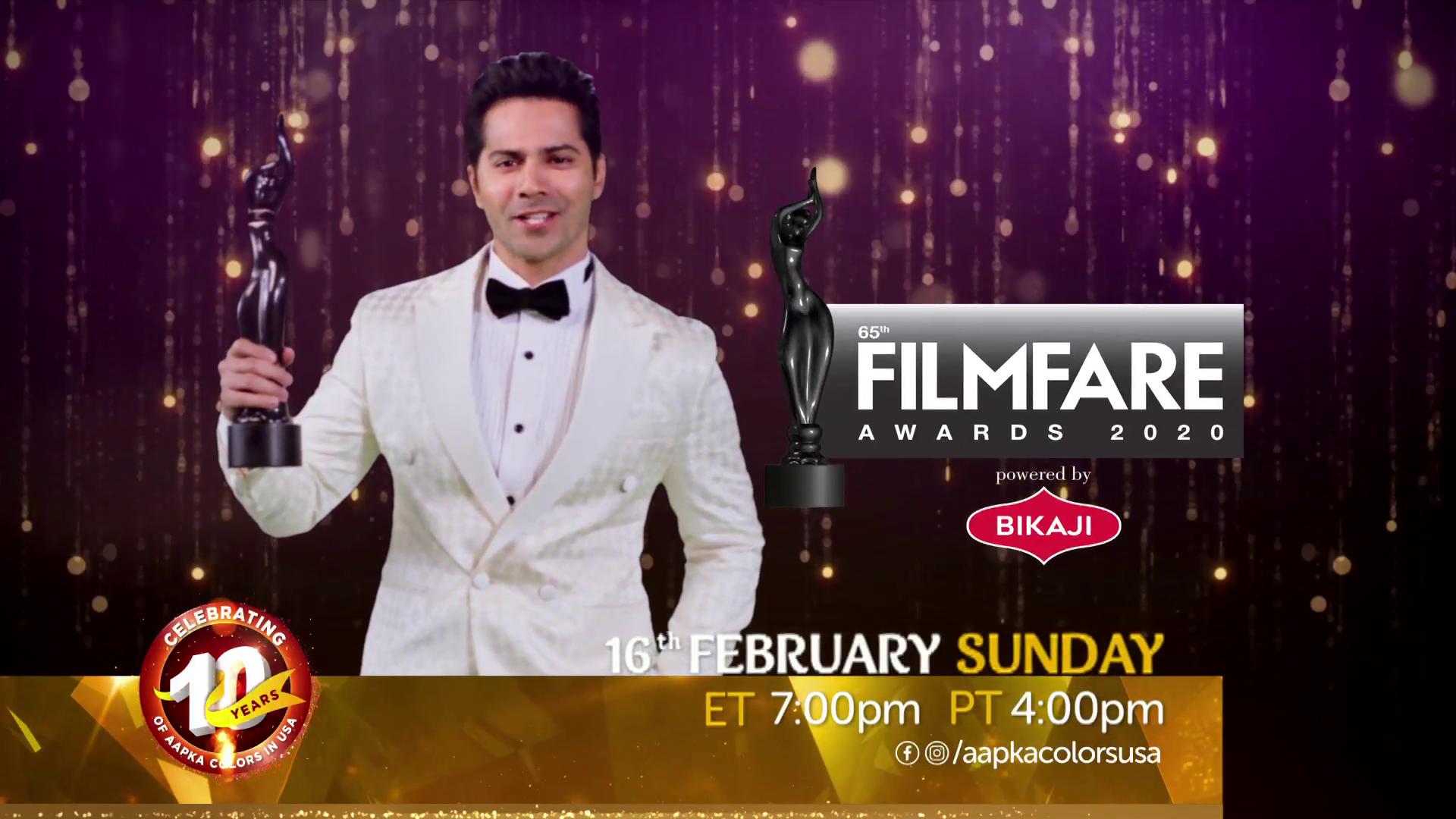 FilmFare Awards 16th Feb Sun 7pm ET/4pm PT