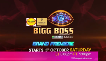 Bigg Boss 14 Starts 3rd October, Saturday, 8 PM ET / 9 PM PT