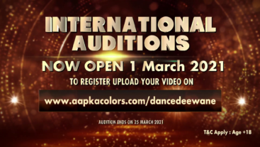 Dance Deewane International Auditions Now Open 1 Match 2021, To register Upload Your Video on www.aapkacolors.com/dancedeewane