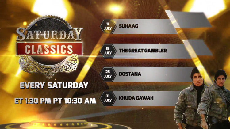 Watch Saturday Classics Every Sat. ET 1:30pm PT 10:30am on Aapka Colors