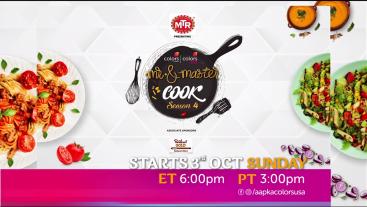 Mr. & Master Cook Starts 3rd Oct Sunday ET 6:00pm PT 3:00pm on Aapka Colors